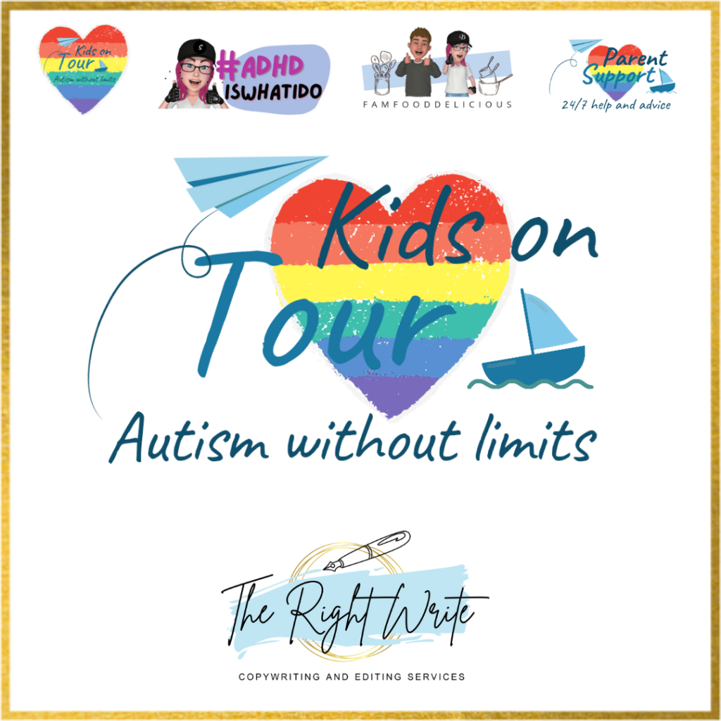 kids on tour autism without limits logo the right write